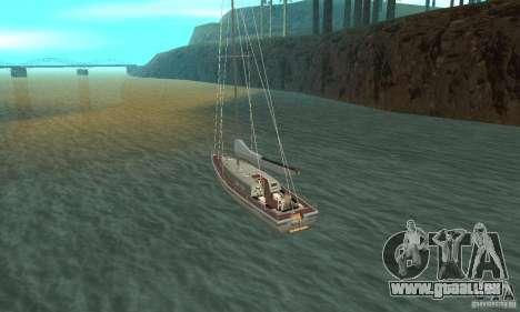 Marquis Segelyacht 09 Textures für GTA San Andreas zurück linke Ansicht