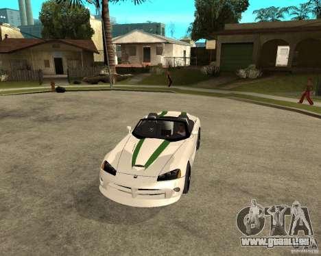 Dodge Viper SRT-10 für GTA San Andreas Innenansicht