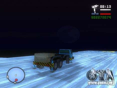 Split Second - Static Truck für GTA San Andreas rechten Ansicht
