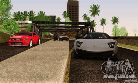 Lamborghini Murcielago LP 670-4 SV pour GTA San Andreas vue arrière