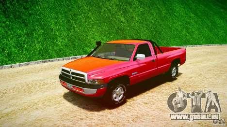 Dodge Ram 2500 1994 für GTA 4 Innenansicht