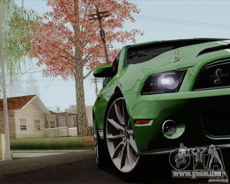 Ford Shelby GT500 Super Snake 2011 pour GTA San Andreas vue de côté