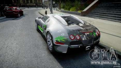 Bugatti Veyron 16.4 v1.0 new skin pour GTA 4 Vue arrière de la gauche