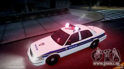 Ford Crown Victoria Croatian Police Unit für GTA 4-Motor