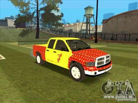 Tej Dodge RAM 2 Fast 2 Furious pour GTA San Andreas laissé vue