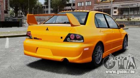 Mitsubishi Lancer Evolution IX MR für GTA 4 hinten links Ansicht