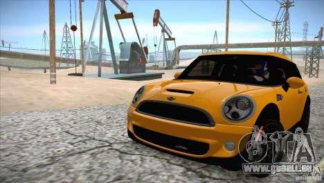 MINI Cooper Clubman JCW 2011 pour GTA San Andreas vue intérieure