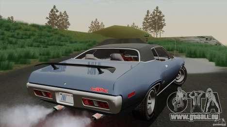 Plymouth GTX 426 HEMI 1971 pour GTA San Andreas vue de côté