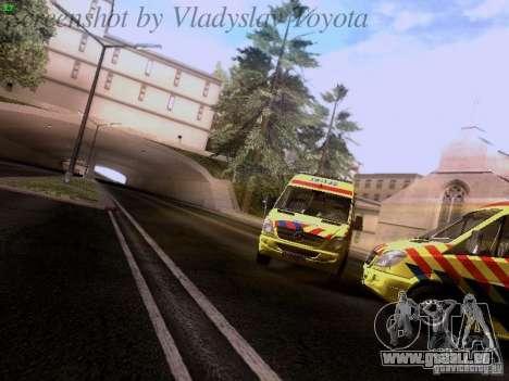 Mercedes-Benz Sprinter Ambulance pour GTA San Andreas vue arrière