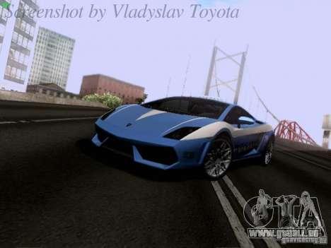 Lamborghini Gallardo LP560-4 Polizia für GTA San Andreas linke Ansicht