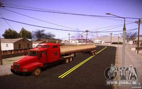 Anhänger Kenworth T600 für GTA San Andreas zurück linke Ansicht