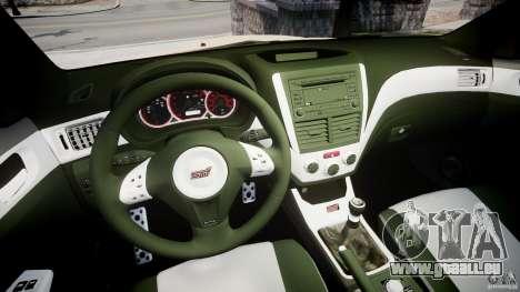 Subaru Impreza WRX STi 2009 für GTA 4 Rückansicht