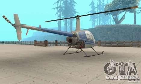 Robinson R22 pour GTA San Andreas laissé vue
