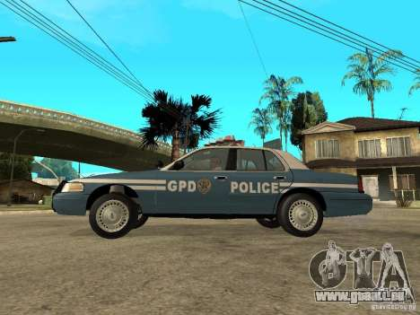 2003 Ford Crown Victoria Gotham City Police Unit pour GTA San Andreas laissé vue