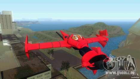 Swordfish Mono Racer pour GTA Vice City sur la vue arrière gauche