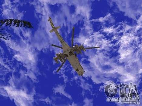 Mil Mi-24 von COD MW 2 für GTA San Andreas rechten Ansicht
