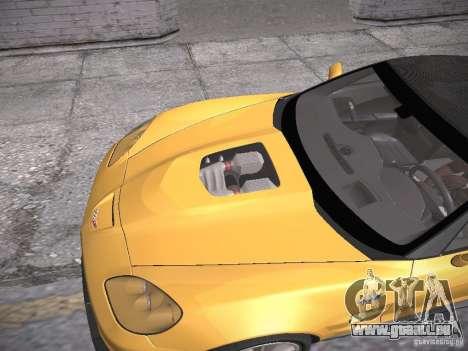 Chevrolet Corvette ZR1 pour GTA San Andreas vue de dessus