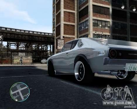 Nissan Skyline KPGC110 2000GT-X pour GTA 4 Vue arrière de la gauche