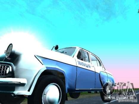 Moskvitsch 403 mit der Polizei für GTA San Andreas Innenansicht