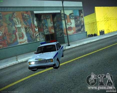 VAZ 2107 Polizei für GTA San Andreas Innenansicht