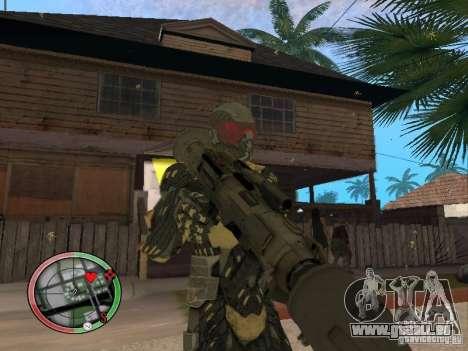 Sammlung von Waffen von Crysis 2 für GTA San Andreas neunten Screenshot