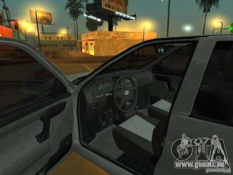 VAZ-2112 für GTA San Andreas Rückansicht