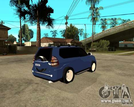 2009 toyota land cruiser prado pour GTA San Andreas sur la vue arrière gauche