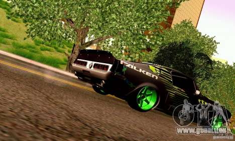 Shelby GT500 Monster Drift pour GTA San Andreas vue de dessous