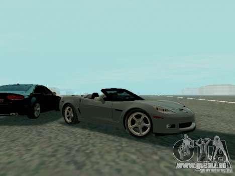 Chevrolet Corvette C6 GS Convertible 2012 pour GTA San Andreas vue de côté