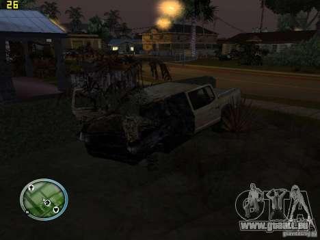 Voitures accidentées sur Grove Street pour GTA San Andreas
