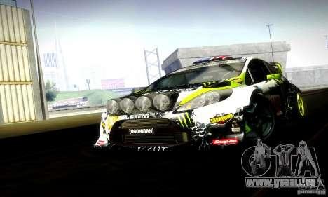 Ford Fiesta Gymkhana 5 für GTA San Andreas Rückansicht