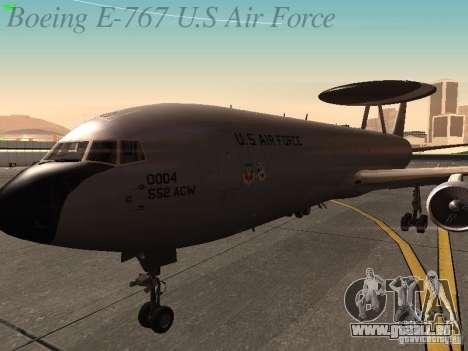 Boeing E-767 U.S Air Force pour GTA San Andreas vue de côté