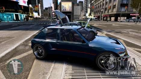 Peugeot 205 für GTA 4 hinten links Ansicht