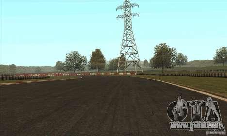Piste GOKART Route 2 pour GTA San Andreas quatrième écran