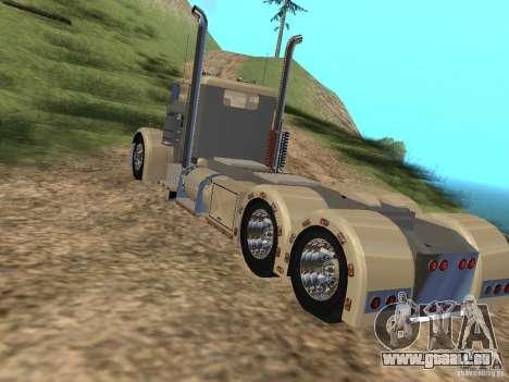 Pimped Peterbilt 381 pour GTA San Andreas sur la vue arrière gauche