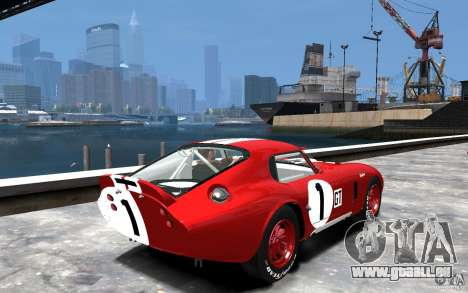 Shelby Cobra Daytona Coupe 1965 pour GTA 4 est un droit