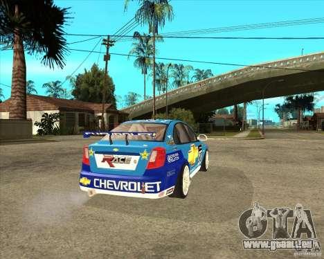 Chevrolet Lacetti WTCC für GTA San Andreas zurück linke Ansicht