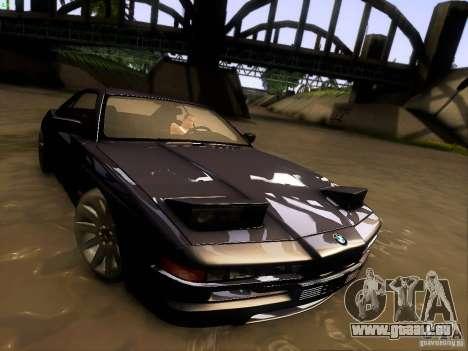 BMW 850 CSI für GTA San Andreas Unteransicht