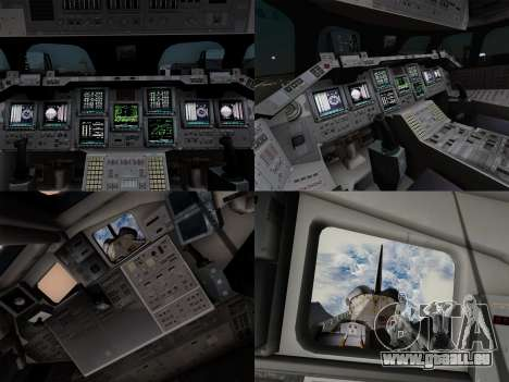 Space Shuttle pour GTA San Andreas vue de dessus