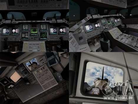 Space Shuttle für GTA San Andreas obere Ansicht