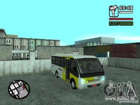Induscar Caio Piccolo für GTA San Andreas Rückansicht