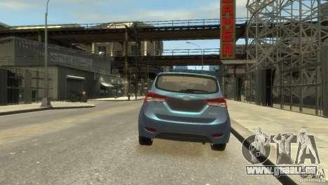Hyundai IX20 2011 pour GTA 4 Vue arrière