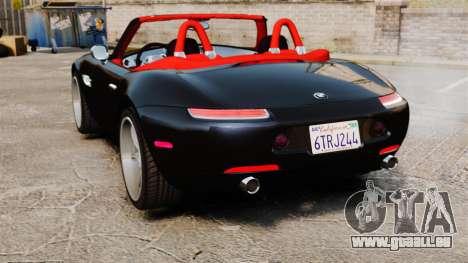 BMW Z8 2000 pour GTA 4 Vue arrière de la gauche