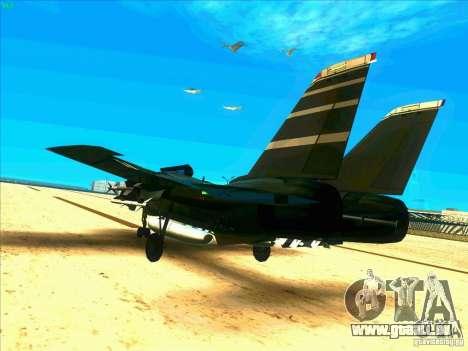 F-14 Tomcat Schnee für GTA San Andreas zurück linke Ansicht