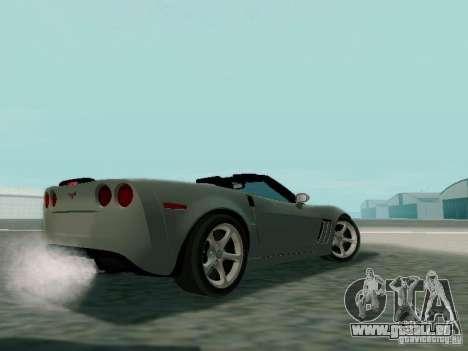 Chevrolet Corvette C6 GS Convertible 2012 pour GTA San Andreas sur la vue arrière gauche