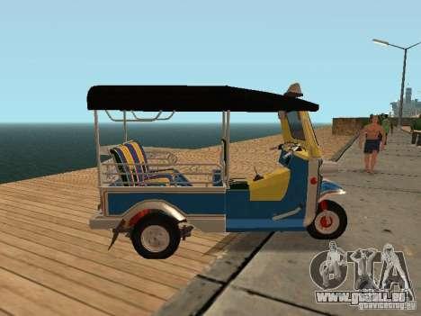 Tuk Tuk Thailand pour GTA San Andreas laissé vue