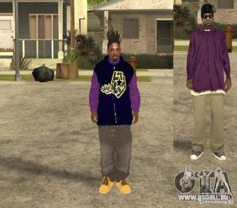 Skinpack Ballas für GTA San Andreas her Screenshot