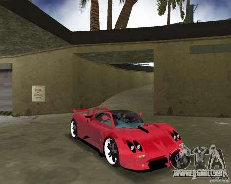 Pagani Zonda S für GTA Vice City Rückansicht