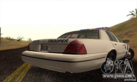 Ford Crown Victoria Arkansas Police pour GTA San Andreas laissé vue