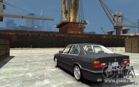 BMW 540i E34 v3.0 pour GTA 4 Vue arrière de la gauche